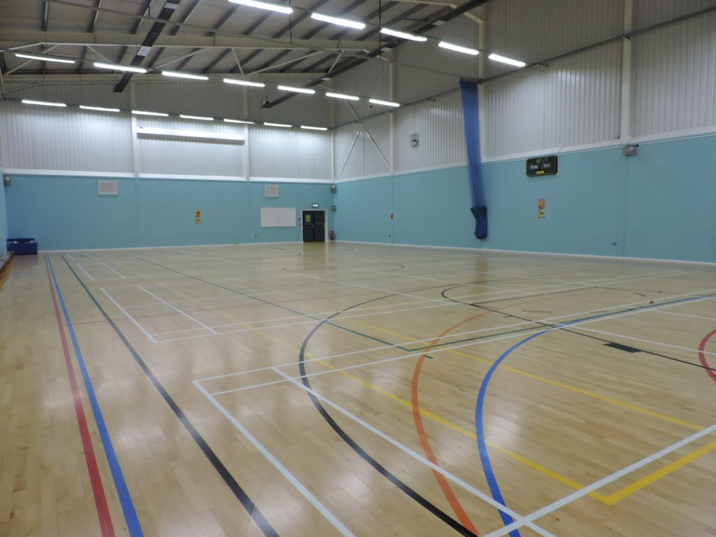 Sports Hall on campus